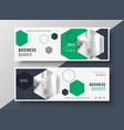 modern geometric business banners set template vector image