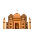mosque on a white background vector image vector image