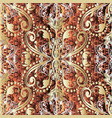 ornate gold 3d baroque seamless pattern textured vector image vector image