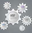 Paper gears working business concept vector image vector image