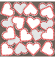 Pattern with many small hearts vector image vector image