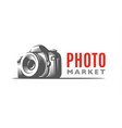 photo camera logo - classic vector image