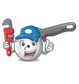 plumber pizza cutter knife isolated on mascot vector image vector image