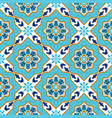 portuguese azulejo white and blue patterns vector image