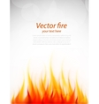 Poster with fire vector image
