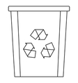 Recycle bin icon outline style vector image vector image