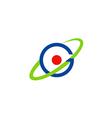 round circle orbit atom global logo vector image