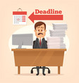 sad unhappy office worker man crying vector image vector image