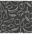Seamless pattern made of one line fruits vector image vector image