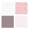 seamless patterns with flowers and leaves vector image vector image