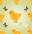 Seamless texture Easter chick Easter background vector image vector image