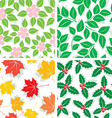 season patterns vector image vector image