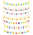 set colorful garlands vector image vector image