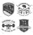 set of skateboard club badges vector image vector image