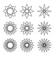 set of stars with variable stroke vector image vector image