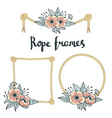 set simple rope frames graphic designs on white vector image