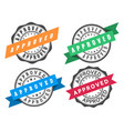 stamp to approve with ribbon vector image vector image