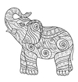 stylized elephant in a graphic style entangle vector image