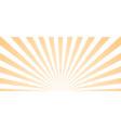 sun ray retro background burst light vector image vector image