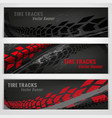 tire track banners vector image vector image