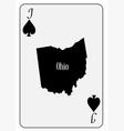 usa playing card jack spades vector image vector image