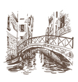 Venice cityscape drawing vector image vector image