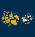 viva mexico - traditional mexican holiday phrase vector image vector image