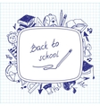 Welcome back to school school background of school vector image