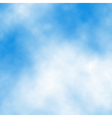 White cloud detail vector image vector image