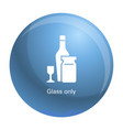wine glass bottle icon simple style vector image