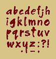 ABC handmade lowercase vector image