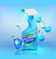 alcohol spray vector image vector image