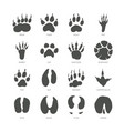animal trails - modern isolated set vector image vector image