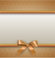 background with bow gold vector image vector image