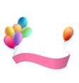 Balloons with a congratulation tape vector image