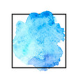 beautiful blue watercolor vector image vector image