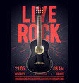 beautiful live classic rock music poster template vector image