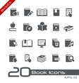 Book Icons Basics Series vector image