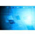 Bright blue backdrop vector image vector image