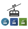 cable railway icon in different variants vector image vector image
