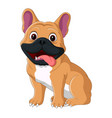 cartoon dog sitting with tongue out vector image vector image