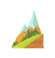 cartoon mountain landscape with two snowy peaks vector image vector image
