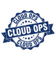 cloud ops stamp sign seal vector image vector image