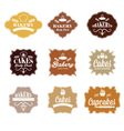 Collection of vintage retro bakery labels vector image vector image