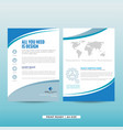 company marketing brochure vector image vector image