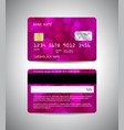 credit cards set with pink design background vector image vector image