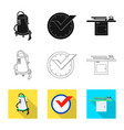 design of laundry and clean icon vector image vector image