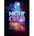 disco ball background disco night club poster vector image vector image