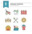 Eco Farming Icons vector image