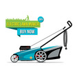 electric lawn mover sale banner vector image vector image